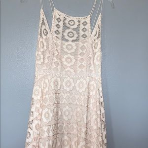 free people size 6 lace and cream dress